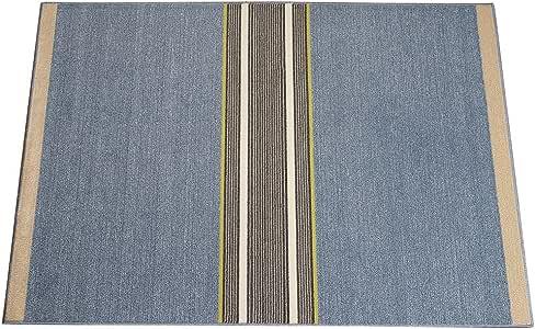 スミノエ スノウマックス ラグ クールライン 130×190cm ブルー 13280953