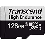 Transcend Transcend 128GB microSD w/Adapter U1, High Endurance (TS128GUSD350V), (TS128GUSD350V)