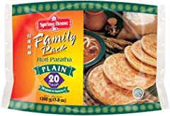 Spring Home Roti Paratha Family Pack Plain, 1.3kg - Frozen