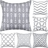 Gusgopo Throw Pillow Covers 18 x 18 Set of 6, Modern Decorative Pillow Covers, Geometry Outdoor Square Pillow Cushion Cases f