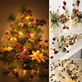 Christmas Best Gift!!!Natarura Christmas Tree Strings Lights Fairy Pine Cone LED Garland Xmas Party Home Decors