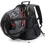 VCAN Motorcycle Helmet Holder Black Backpack Cycling Hiking Helmet catch Bag, also fit Basketball Football Soccer Backpack, S