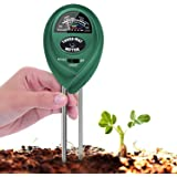 T Tersely 3-in-1 Soil pH Meter, Plant Soil Tester Kit with Moisture,Light and PH Test for Garden Farm Lawn, Indoor & Outdoor