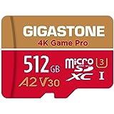 【5年保証 】Gigastone Micro SD Card 512GB A2 V30 マイクロSDカード UHS-I U3 Class 10 100/80 MB/S 高速 Gopro アクションカメラ スポーツカメラ 4K Ultra HD 動画