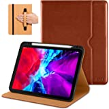 DTTO Case for New iPad Pro 12.9 Inch 4th Generation 2020/2018, Premium PU Leather Folio Stand Cover [Apple Pencil Pair and Ch