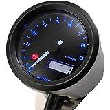 デイトナ VELONA(ヴェローナ) バイク用 電気式 タコメーター ブラックボディ/3色LED φ48 9000rpm表示 91675