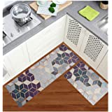 CloudART Anti Fatigue Kitchen Floor Mat, Comfort Standing Mats,Waterproof PVC Non Slip Washable for Indoor Outdoor (Geometric