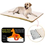PAWZ Road Pet Dog Bed, Self -Warming Dog Bed Pad, Pet Dog Mat, Crate Pad Bed Large Pet Soft Washable Cushion
