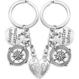 Mother Daughter Gift Keychain - 2PCS Mom Daughter Gift Set for Birthday Christmas, Mom Gifts, Daughter Gifts, Mother Daughter