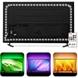Bias Lighting 60 65 inch TV LED Strip Lights Backlight Kit - 14.4ft USB Powered RGBW 6500K White LED Light Strip with RF Remo