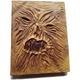 Necronomicon 本小道具 ホラー映画 魔術 呪文 Grimoire Lovecraft クトゥル レザー ラテックス ハロウィン ホーカス 魔術書 装飾 コスチューム ノート ジャーナル 8.5-x-11-Inch 689280539396