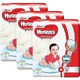 Huggies Silver Medium Pants, Carton, Suitable for 6-12kg, 64ct (Pack of 3)