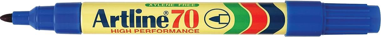 Artline 70 Permanent Marker 1.5Mm Bullet Nib Blue - Pack of 12