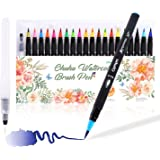 Ohuhu Watercolor Brush Markers Pen Set of 24, Water Based Drawing Marker Brushes W/A Water Coloring Brush, Water Soluble for