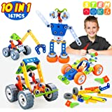 INSOON 10 in 1 STEM Toys for Kids Building Toys Kit Creative Construction Engineering Learning Toys for 5 6 7 8 9 Year Old Bo