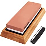 TODOCOPE Premium Whetstone, Sharpening Stone 2 Side Grit 1000/6000 Knife Sharpening Stone, Blade Knife Sharpener with Non Sli