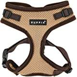Puppia Authentic RiteFit Harness with Adjustable Neck, Medium, Beige