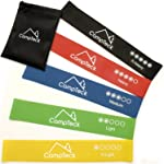 CampTeck Set of 5 Premium Latex Resistant Loop Bands suitable for Gym Home Fitness Workout, Yoga, Pilates, Strength...