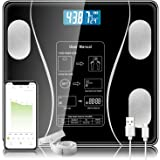 Toworld Body Fat Scale, Smart BMI Digital Bathroom Scale, Wireless Scales for Body Weight and Fat, Wellness Bluetooth Health