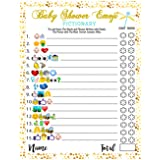 Baby Shower Games - Emoji Pictionary Cards, Fun Guessing Game for Girls Boys Babies Gender Neutral Ideas Shower Party, Prizes