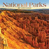 National Parks 2021 7 x 7 Inch Monthly Mini Wall Calendar with Foil Stamped Cover, USA United States of America Scenic Nature