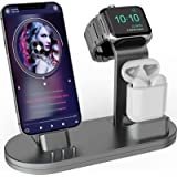 OLEBR 3 in 1 Charging Stand Compatible with iWatch Series 5/4/3/2/1, AirPods and iPhone 11/Xs/X Max/XR/X/8/8Plus/7/7 Plus /6S