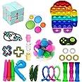 Fidget Pack, 28Pcs Fidget Toys Cheap Fidget Toys Set Sensory Fidget Toys for Kids Adults, Simple Dimple Fidget Toys, Stress R