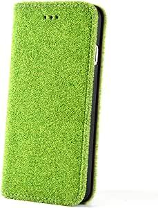 Shibaful 手帳型ケース for iPhone 6/6s 芝生 手触り 滑らない iPhone フリップケース Yoyogi Park 定番緑 AG/SBF-FPC01