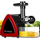 Aobosi Slow Masticating juicer Extractor, Cold Press Juicer Machine, Quiet Motor, Reverse Function, High Nutrient Fruit and V