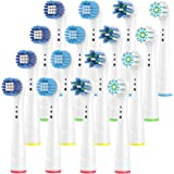 Dealswin ぶらうんおーらるb 電動歯ブラシ 用の 替えブラシ 4種類が入り マルチアクションブラシ EB50, ベーシックブラシ EB20, 柔らかい ベーシックブラシ EB17, やわらか極細毛ブラシ EB60 凡用な16本
