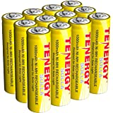 Tenergy Solla Rechargeable NiMH AA Battery, 1000mAh Solar Batteries for Solar Garden Lights, Anti-Leak, Outdoor Durability, 5