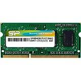 シリコンパワー ノートPC用メモリ 204Pin SO-DIMM DDR3-1333 PC3-10600 4GB 永久保証 SP004GBSTU133N02