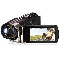 ビデオカメラ Rosdeca デジタルビデオカメラ HD 16倍デジタルズーム 一時停止機能 HDMI機能付き 3.0液…