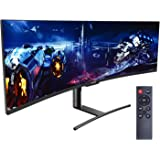 Viotek SUW49DA 49-Inch Super Ultrawide Monitor | 1440p 120Hz 4ms 1800R | 5120x1440p 32:9 Dual QHD Monitor | Zero-Tolerance De