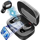 Bluetooth ワイヤレス イヤホン 瞬時接続 IPX7完全防水 ワイヤレスイヤホン LEDディスプレイ電量表示 Hi-Fi 両耳 左右分離型 自動ペアリング ブルートゥース イヤホン 音量調整 ハンズフリー通話 Siri対応 フィット感 iPh