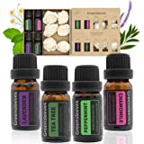 Essential Oils Set, 100% Pure Aromatherapy Essential Oil Gift Kits Lavender, Chamomile, Peppermint, Tea Tree for Aroma Diffus
