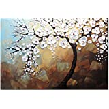 Hand-Painted Oil Painting Art Canvas 3D Texture Palette Knife Abstract Painting Wall Art Picture Ready to Hang (60 * 90cm) St