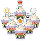 iFriends TV Show Cupcake Topper and wrappers -iFriends TV Show Party Supplies, Cupcake Topper Idea for iFriends theme Birthda