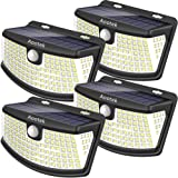 New Solar Lights 4Pack Upgraded High Efficiency 36 LEDs with 11.8 in² Solar Panel, 3 Optional Modes Sensitive PIR Motion Sens