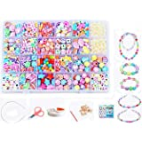Vytung Beads Set for Jewelry Making Kids Adults Children Craft DIY Necklace Bracelets Letter Alphabet Colorful Acrylic Crafti
