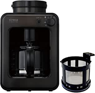 シロカ 全自動コーヒーメーカー SC-A121TB-TMF ガラスサーバー ブラック 予備メッシュフィルター付特別セット