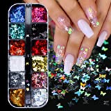 Butterfly Nail Art Sequins Acrylic Paillettes Butterfly for Nails Glitter Design Holographic Nail Sparkle Flakes Butterflies