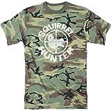Mens Squirrel Hunter Funny Animal Hunting Season Shooting Camouflage T shirt