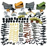 Custom Military Army Weapons and Accessories Set . OEMinifigure Accessories - Hats, Weapons, Tools, Modern Assault Pack Milit