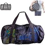 Deacroy Mesh Dive Bag,Diving Snorkel Bag,Multi-Purpose Equipment Diving Duffle Gear Tote, Foldable Scuba Gear Travel Bag,Extr