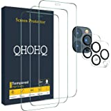 "QHOHQ 3 Pack Screen Protector for iPhone 12 Pro Max [6.7""] with 2 Packs Tempered Glass Camera Lens Protector, Tempered Glass"