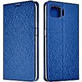 シズカウィル(shizukawill) OPPO A73 CPH2099 楽天モバイル 手帳型 ケース カバー Slim Deep Blue スリム ケース ブルー色 カード収納あり ストラップホール オッポa73 オッポ エー73 oppoa73