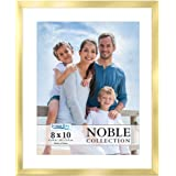 Icona Bay 8x10 Gold Picture Frame w/Mat, Modern Professional Frame, Noble Collection