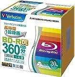 Verbatim バーベイタム 1回録画用 ブルーレイディスク BD-R DL 50GB 20枚 ホワイトプリンタブル 片面2層 1-4倍速 VBR260YP20V1