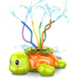 SAOCOOL Sprinkler for Kids Outdoor Play, Water Toys Spinning Turtle Sprinklers Outside Toys with Wiggle Tubes, Kids Sprinkler